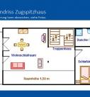 Grundriss Ferienwohnung Zugspitzhaus